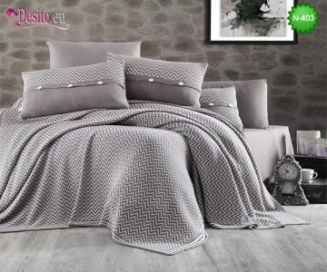 Спален комплект с плетено одеало N-403