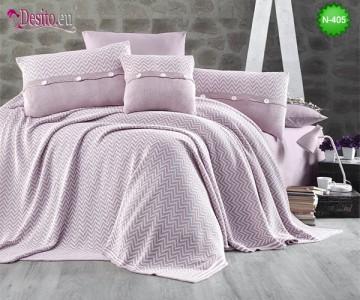 Спален комплект с плетено одеало N-405