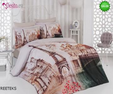 3D спално бельо от памучен сатен SA-06