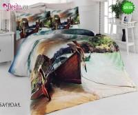 3D спално бельо от памучен сатен SA-09