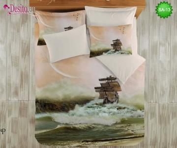 3D спално бельо от памучен сатен SA-13