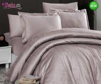 Луксозно спално бельо от памук-сатен с жакард JS-26