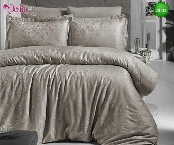 Луксозно спално бельо от памук-сатен с жакард JS-33