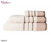 Хавлиени кърпи Мика - бежово с черти