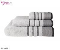 Хавлиени кърпи Мика - сиво с черти