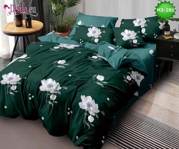 Спално бельо от 100% памук, 6 части, двулицево с код M3-286