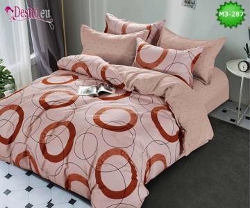 Спално бельо от 100% памук, 6 части, двулицево с код M3-287