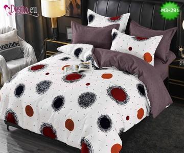 Спално бельо от 100% памук, 6 части, двулицево с код M3-291