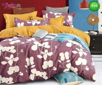 Спално бельо от 100% памук, 6 части, двулицево с код 616
