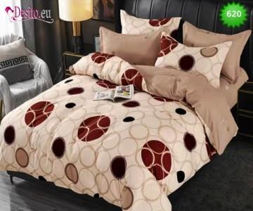 Спално бельо от 100% памук, 6 части, двулицево с код 620