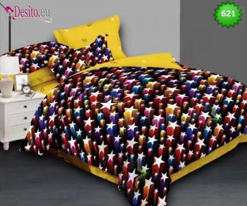 Спално бельо от 100% памук, 6 части, двулицево с код 621