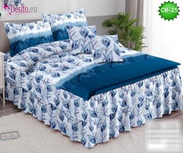 Спално бельо от 100% памук, 6 части, с код C8-25