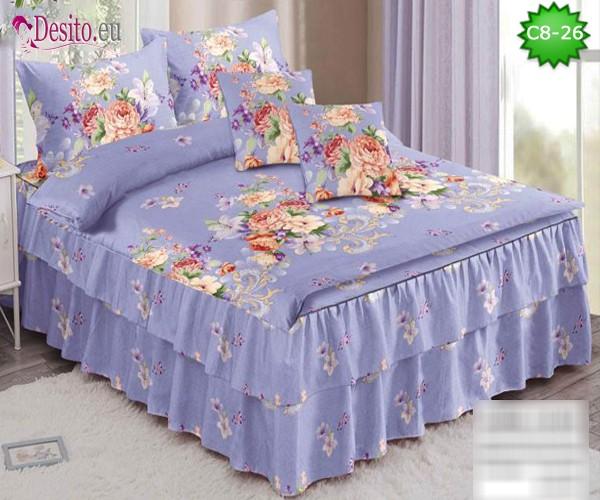 Спално бельо от 100% памук, 6 части, с код C8-26