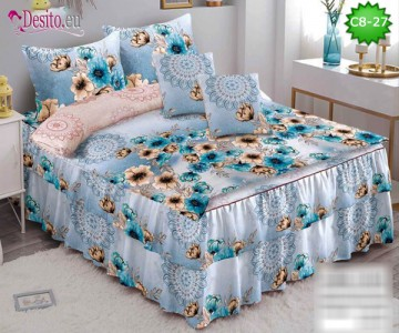 Спално бельо от 100% памук, 6 части, с код C8-27