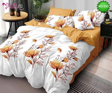 Спално бельо от 100% памук, 6 части, двулицево с код M3-292