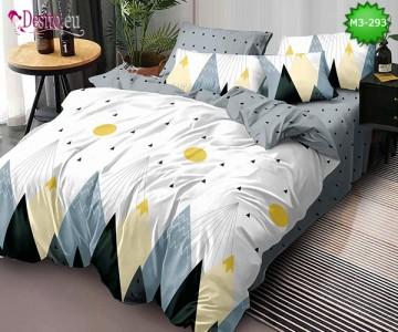 Спално бельо от 100% памук, 6 части, двулицево с код M3-293