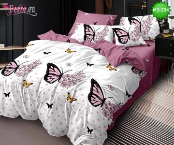 Спално бельо от 100% памук, 6 части, двулицево с код M3-294