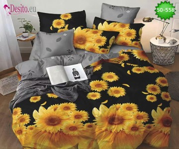 Двулицево спално бельо от 100% памук, 4 части с код 50-558