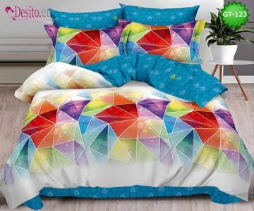 Спално бельо от 100% памук, 6 части и чаршаф с ластик с код GT-123