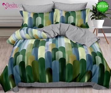 Спално бельо от 100% памук, 6 части и чаршаф с ластик с код GT-124