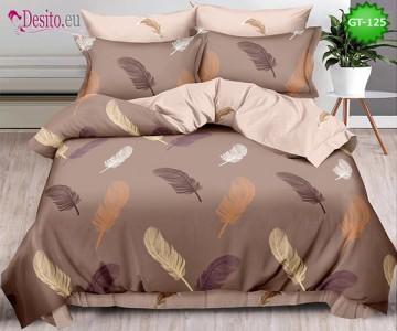 Спално бельо от 100% памук, 6 части и чаршаф с ластик с код GT-125