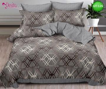 Спално бельо от 100% памук, 6 части и чаршаф с ластик с код GT-126