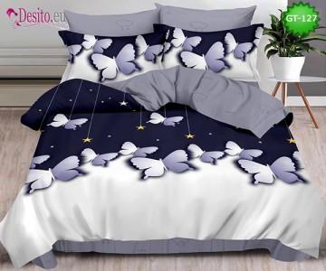 Спално бельо от 100% памук, 6 части и чаршаф с ластик с код GT-127