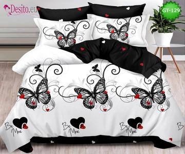 Спално бельо от 100% памук, 6 части и чаршаф с ластик с код GT-129