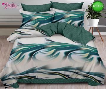 Спално бельо от 100% памук, 6 части и чаршаф с ластик с код GT-131