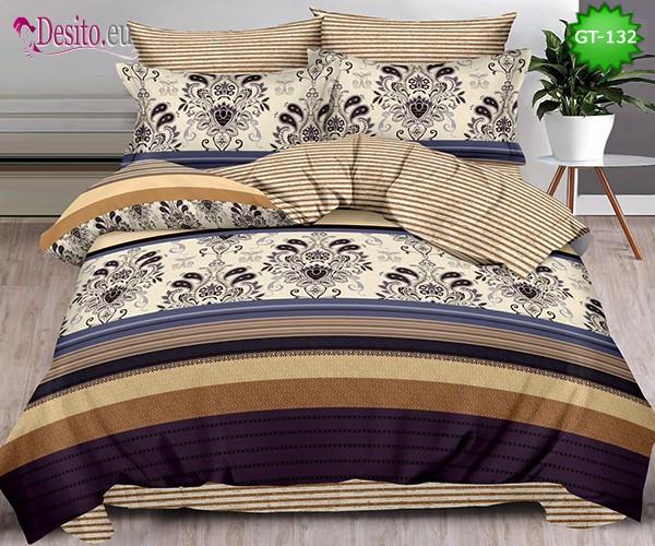 Спално бельо от 100% памук, 6 части и чаршаф с ластик с код GT-132