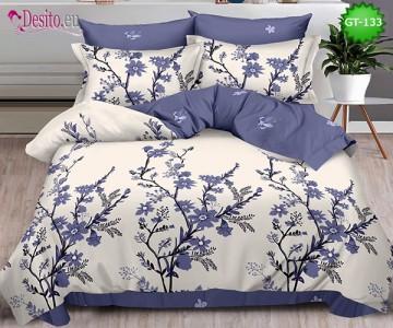 Спално бельо от 100% памук, 6 части и чаршаф с ластик с код GT-133