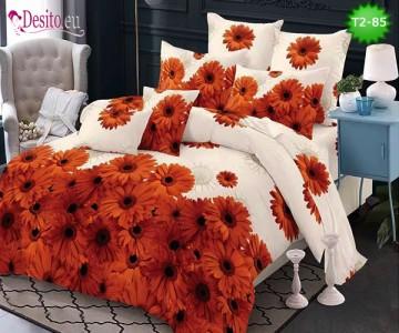 Спално бельо от 100% памук, 6 части - двулицево, с код T2-85
