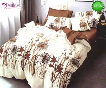 Спално бельо от 100% памук, 6 части - двулицево, с код T2-92