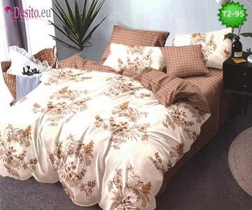 Спално бельо от 100% памук, 6 части - двулицево, с код T2-95