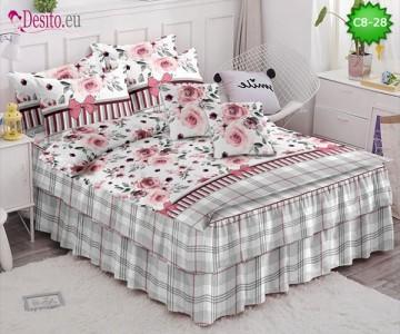 Спално бельо от 100% памук, 6 части, с код C8-28