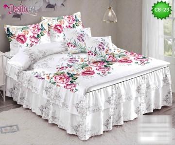 Спално бельо от 100% памук, 6 части, с код C8-29
