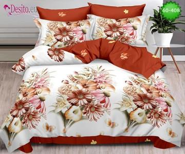 Спално бельо от 100% памук, 6 части, двулицево с код 60-408