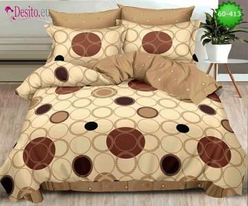 Спално бельо от 100% памук, 6 части, двулицево с код 60-413