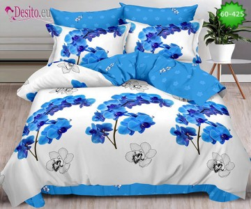 Спално бельо от 100% памук, 6 части, двулицево с код 60-425