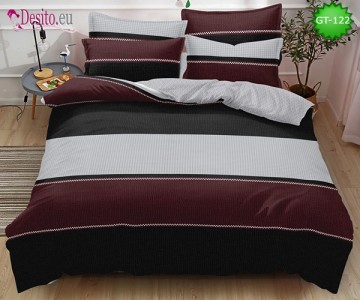 Спално бельо от 100% памук, 6 части и чаршаф с ластик с код GT-122