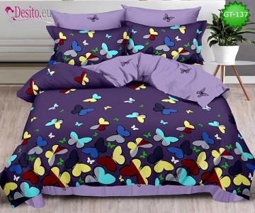 Спално бельо от 100% памук, 6 части и чаршаф с ластик с код GT-137