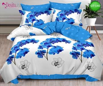 Спално бельо от 100% памук, 6 части и чаршаф с ластик с код GT-140