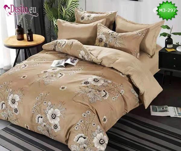 Спално бельо от 100% памук, 6 части, двулицево с код M3-297