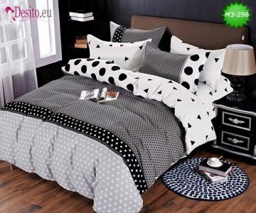 Спално бельо от 100% памук, 6 части, двулицево с код M3-298