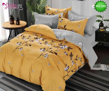 Спално бельо от 100% памук, 6 части, двулицево с код M3-299