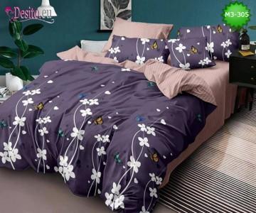 Спално бельо от 100% памук, 6 части, двулицево с код M3-305