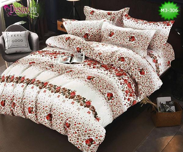 Спално бельо от 100% памук, 6 части, двулицево с код M3-306