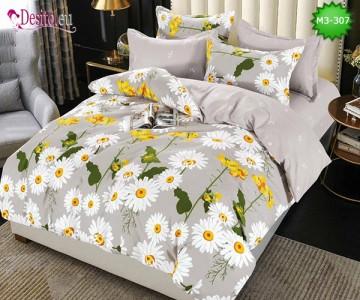 Спално бельо от 100% памук, 6 части, двулицево с код M3-307