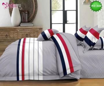 Спално бельо от 100% памук, 6 части, двулицево с код M3-308
