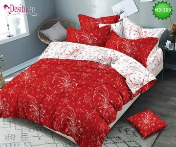 Спално бельо от 100% памук, 6 части, двулицево с код M3-309